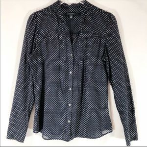 Banana Republic Navy Career Blouse SIZE M